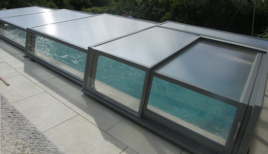 The low level pool enclosure - open air.