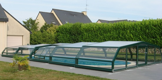 The colour is an important choice when deciding on a pool enclosure.  Blending into the surrounding landscape and your home needs to be paramount.