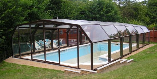 A 5 angle pool enclosure will fit perfectly into the environment.