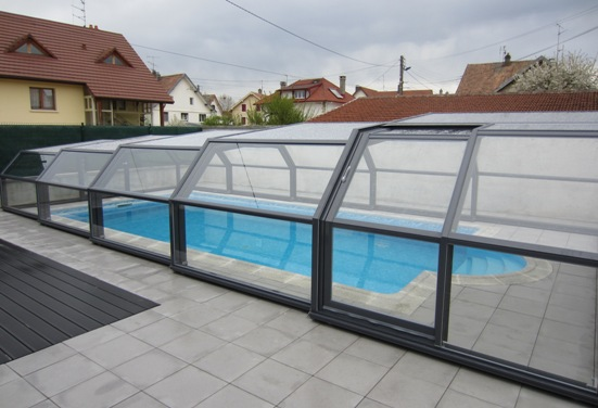 5 intermediate angles pool shelters shelter pool and for Abri piscine telescopique